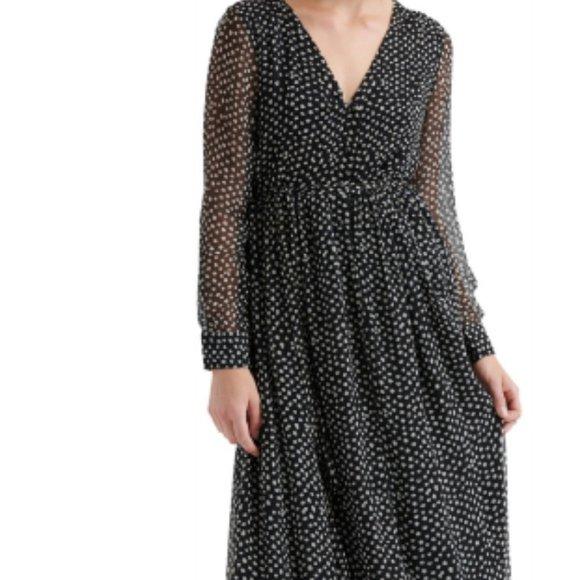 Lucky Brand Polka Dot Maxi Dress Med